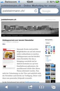 joelsteinmann.ch - Webseite als Bookmark speichern für iPhone/iPod/iPad