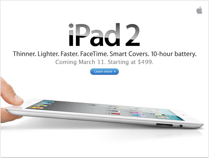 iPad 2 ist gestern vorgestellt worden