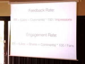 Feedback Rate auf Facebook