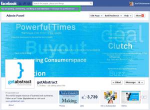 Facebook erweiter Benutzerfunktion der Administratoren