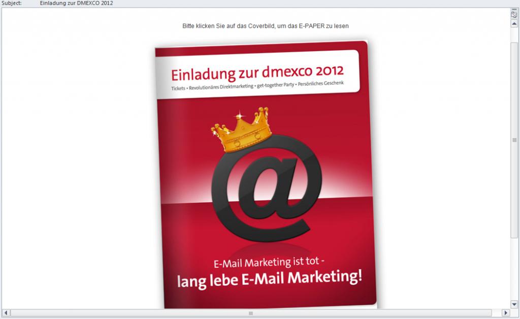 HTML Email wie es aussehen sollte