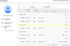 Google Analytics User Report