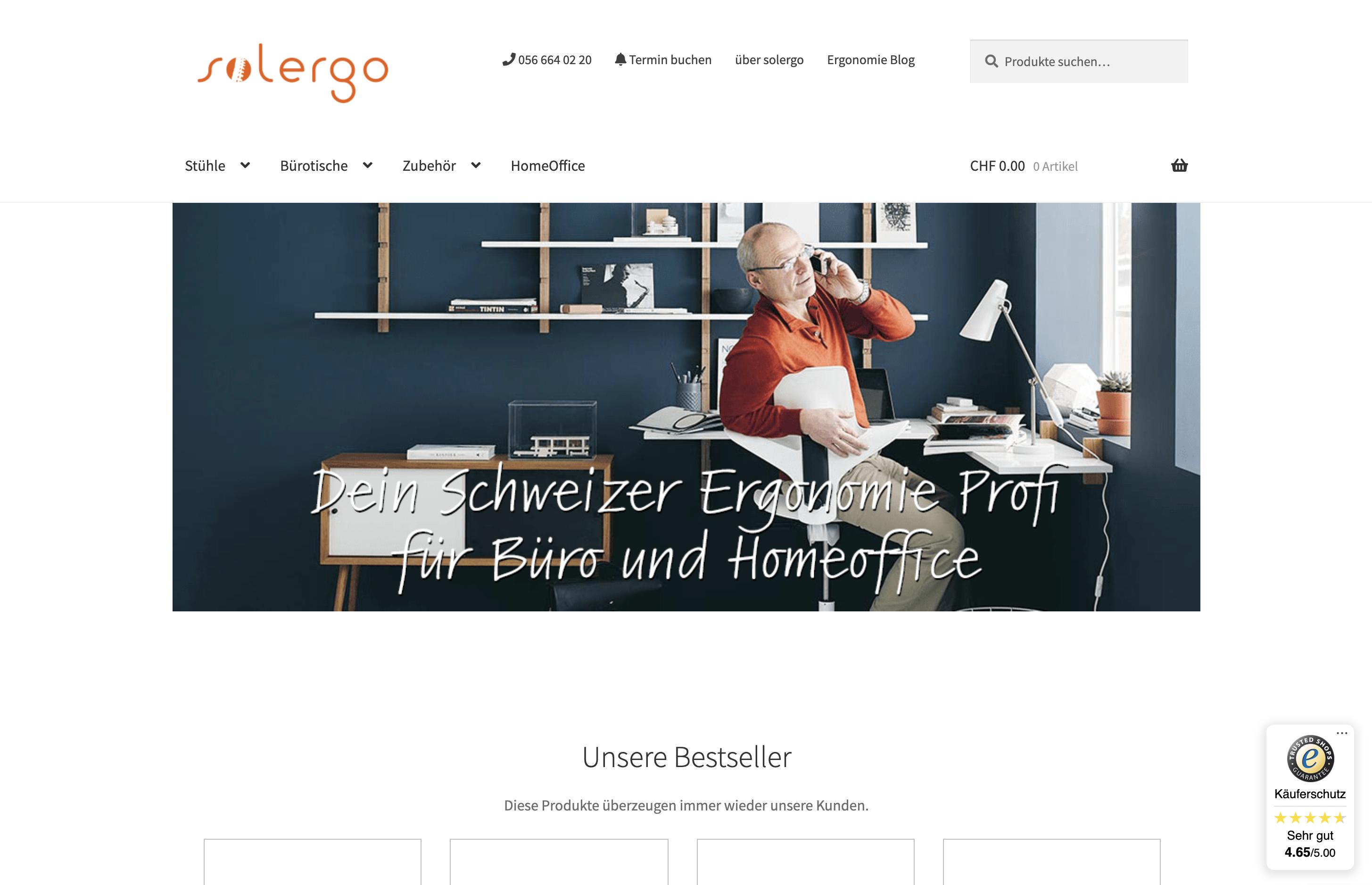 solergo.ch - Schweizer Ergonomie Büro Onlineshop